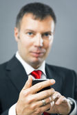 Business man mobile phone — Stock Photo