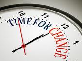 Tempo de mudança — Foto Stock
