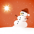 Snowman card — Stock Photo #13497915