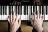 Piano playing — Stock Photo