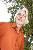 Man with a white beard — Stock Photo