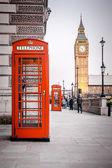 Czerwony telefon pola — Zdjęcie stockowe