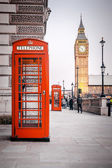 Red phone boxes — Foto de Stock