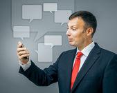 Business man communication — Stock Photo