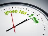 Green tea - 2 min — Stock Photo