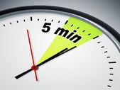 5 мин — Стоковое фото