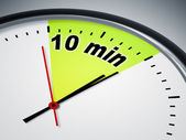 10 min — Foto de Stock