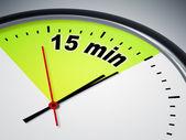 15 мин — Стоковое фото