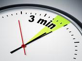 3 min tijd — Stockfoto