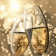 Stock Photo: 2 Champagne glasses