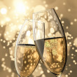 2 Champagne glasses - Stock Photo