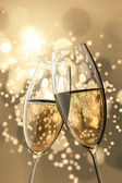 2 Champagne glasses — Stock Photo