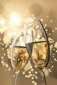 2 copas de champán — Foto de Stock