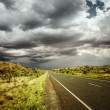 Road bad weather — Stock Photo