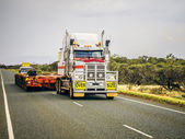 Oversize load ahead — Foto Stock