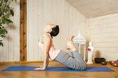 Yoga woman — Zdjęcie stockowe