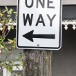 One way sign in Sydney Australia - Stock Photo