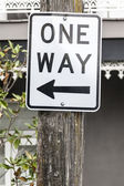 One way sign in Sydney Australia — Stock Photo