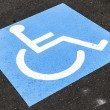 Royalty-Free Stock Photo: Disabled sign on asphalt