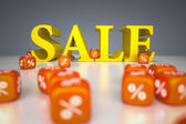 Señal de venta con porcentaje dados — Foto de Stock