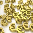 Golden euro signs — Stock Photo