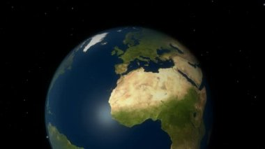 Zoom to Europe. 3D Animation with high detailed NASA images for the earth. — Stock Video