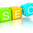 Search engine optimization dice — Stock Photo #24713111