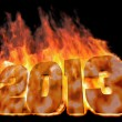 Stock Photo: Burning number 2013