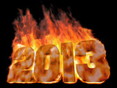 Burning number 2013 — Stock Photo