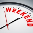 Stock Photo: Weekend Clock