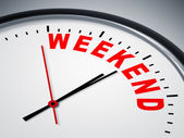 Weekend Clock — Stock Photo