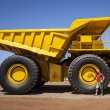 Big yellow transporter — Stock Photo