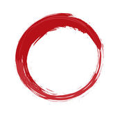Painted red circle — Stock Photo
