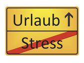 Urlaub - Stress — Stock Photo