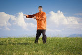 Qi-Gong outdoor — Stock Photo