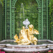 Fountain at castle linderhof — Stock Photo