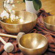Singing bowls — Stock Photo