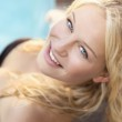 Blonde in the pool — Stock Photo #30372669