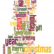 Christmas text cloud — Stock Vector #32063135