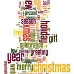 Christmas text cloud — Stock Vector