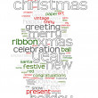 Christmas text cloud — Stock Vector