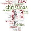 Christmas text cloud — Imagen vectorial