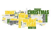 рождество текст облако — Cтоковый вектор