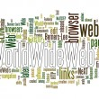 World wide web text cloud — Imagen vectorial