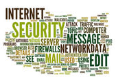 Internet security text cloud — Stock Vector