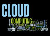 Cloud computing text cloud — Stock Vector