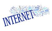 Internet text cloud — Stock Vector