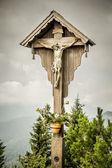Jesus cross herzogstand — Stock Photo