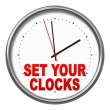 Set your clocks — 图库照片