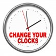 Foto Stock: Change your clocks